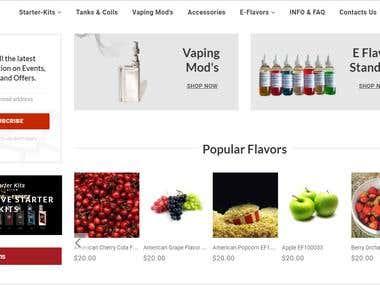CC Vaping Online E-commerce Website Design