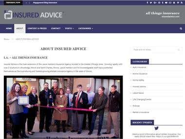 Insurance Adviser Website Design