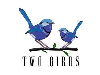 Two Birds Logo design