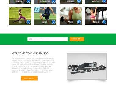 Web Design concept for life floss band company
