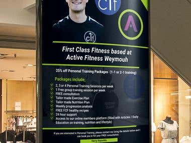 Poster design for Fitness Club