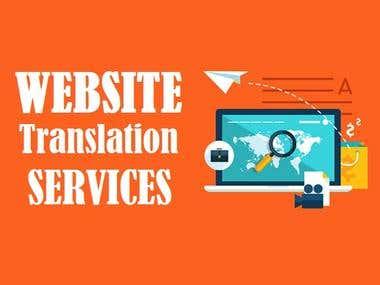Website translation