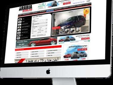 ArabiaMotors Website design and development