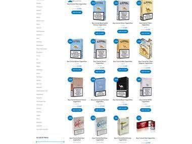 eCommerce website for buy-cigarettes-online.com