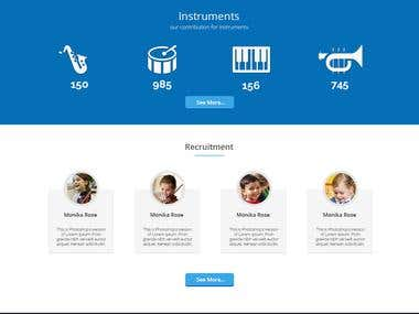 Web design concept for school band