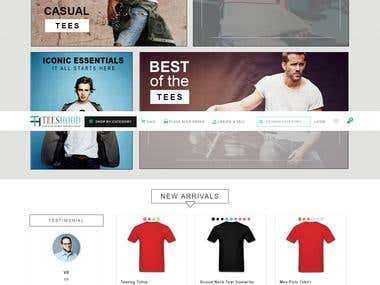 online product customization and e- store