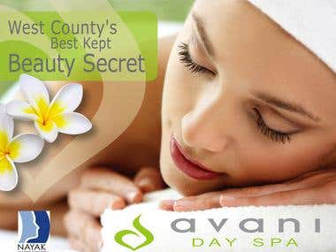 Advertising for a day spa