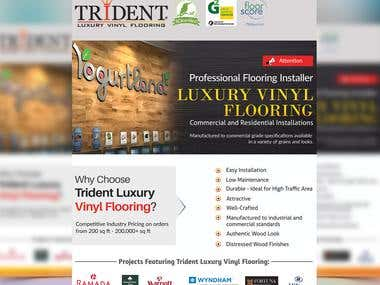 Luxury Vinyel Flooring Flyer Design