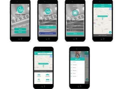 Taxi App Uber Concept