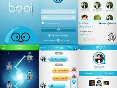 BOAI Social Networking iPhone & Android App