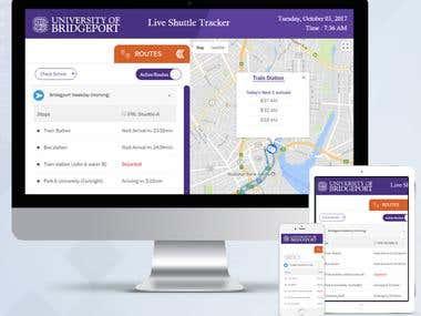 University of Bridgeport Live Shuttle Tracker Web App