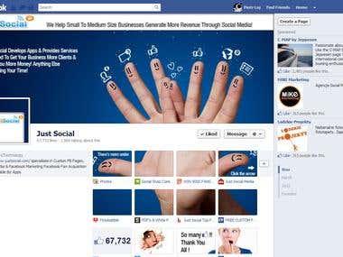 Just Social Timeline Design