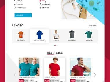 Ecommerce website home page design