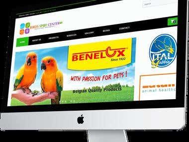 BirdsSpotCenter website design & development