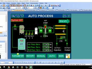 RO Plant on GT Designer 3 (Mitsubishi)
