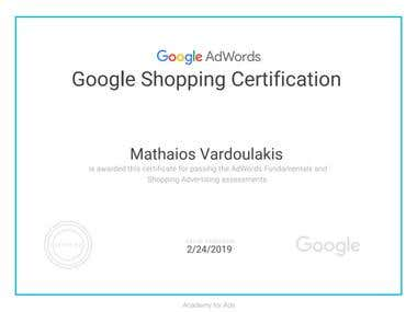 Google Shopping Certicate
