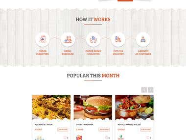 Psd Design of Food Company