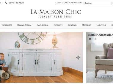 La-maison-chic: eCommerce Website