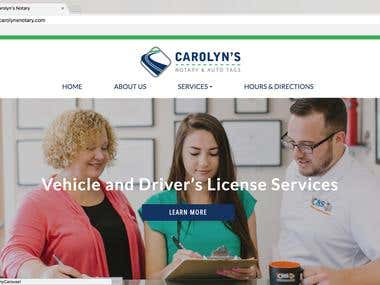 Carolynsnotary WordPress CMS Website