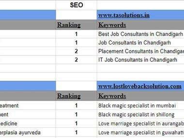 Search engine optmization (SEO)