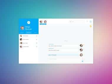 Messenger App UX/UI Development
