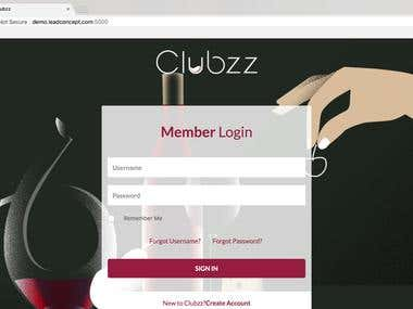 Clubzz Web Application