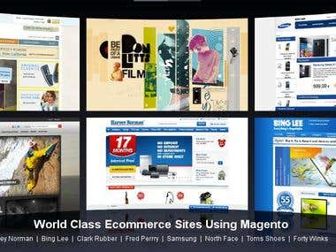 World class Sites Built with Magento