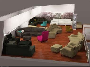 3D furniture visualization.