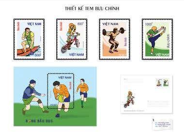 Stamp, Label Design