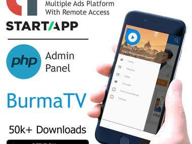 BurmaTV - IPTV App for Android With Web Panel