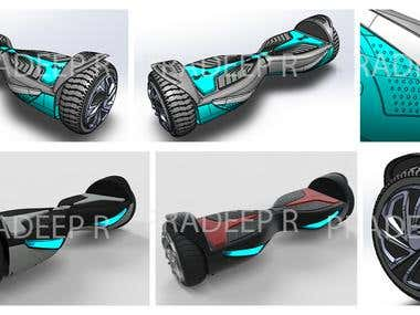 Hover board with solidworks