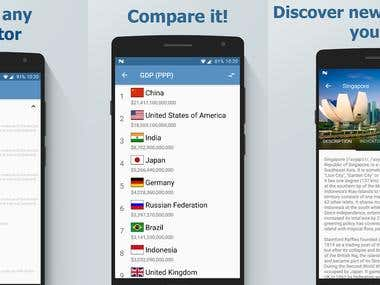 [Android] Countrymania: indicators and countries indices