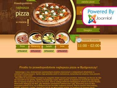 Custom Site For Pizza | 'Pirrato', Poland Based Company