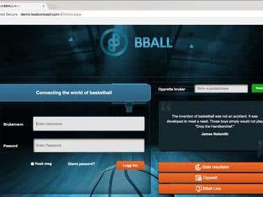 BBall Web Application