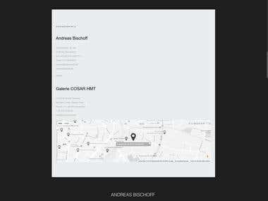Website-Portfolio for international Artist