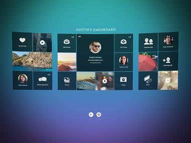 Dashboard for the VR app Development