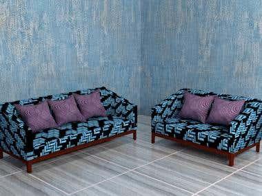 Sofa 3D Modelling