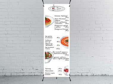 Banner stand menu