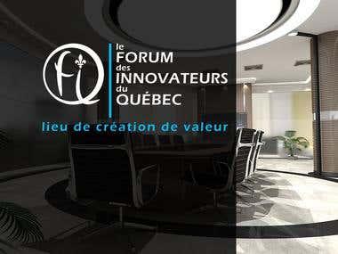 "Logo for ""Le FORUM des Innovateurs du QUEBEC"""