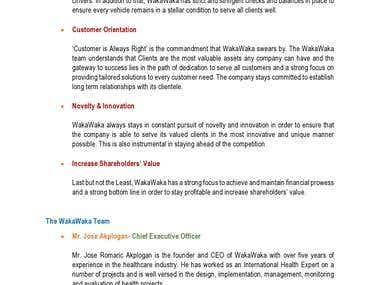 WakaWaka Company Profile