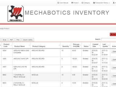 Inventory System for Mechabotics Enterprise