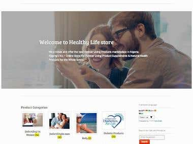 A Professional eCommerce Store For HealthyLife Nigeria