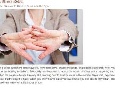 Quick Stress Relief Using Your Senses to Relieve Stress on t