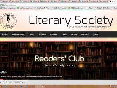 Literary Society Website