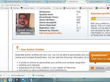 Textbroker Author Profile