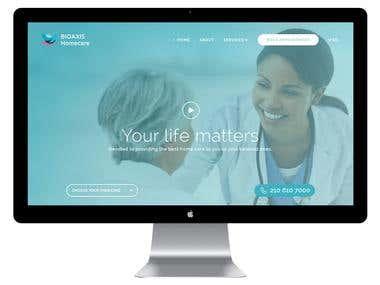 Bioaix Homecare- PSD to Responsive HTML Conversation