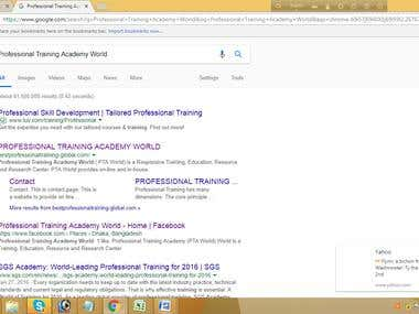 SEO-Website in SERP-1st page