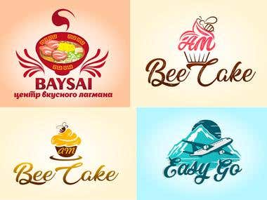 BATSAI, Bee Cake, Easy Go - Logo design