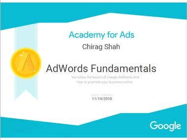 Adwords Fundamental Certificate