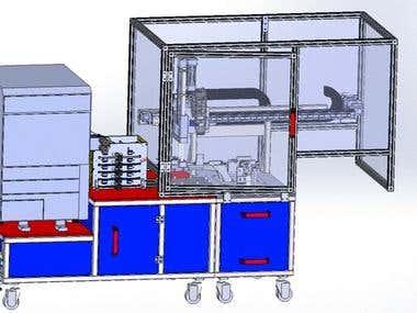 Printer / cart for trifolder machine